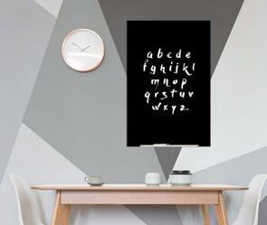 Boyd Visuals Magnetic Glass Writing Board Black