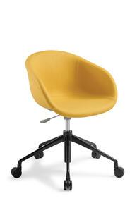 Eden Lotus with 5-Star Swivel Base Black Aluminium Chair