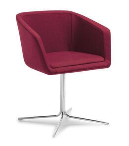 Eden Martina Swivel 4-point Chrome Base Chair