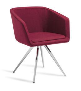 Eden Martina Stork Chrome Base Chair