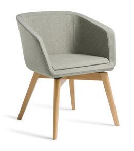 Eden Martina Natural Beech Timber Base Chair