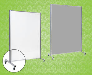 Boyd Visuals Porcelain Fixed Mobile Whiteboard
