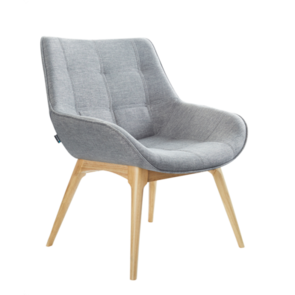 Konfurb Neo Solid Wooden Legs Chair