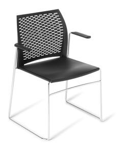 Eden Net Chair Chrome With Arms