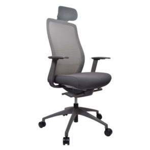 Konfurb Luna Chair Nylon Base with Upholstered Headrest and 2d Arms
