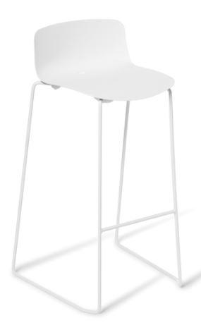 Eden Coco White Frame Bar Stool