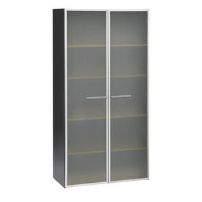 Sonar Cupboard 2 Full Height Glass Doors