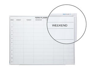 Boyd Visuals Porcelain Term Planner Whiteboard