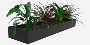 Slider Planter Box Black
