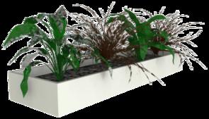 Slider Planter Box White
