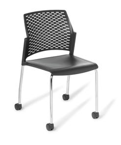 Eden Punch 4-Leg Chair on Castors