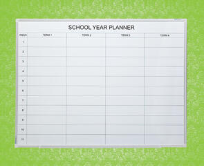 Boyd Visuals Porcelain School Year Planner Whiteboard