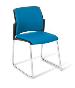 Eden Spring Sled Chair - Upholstered