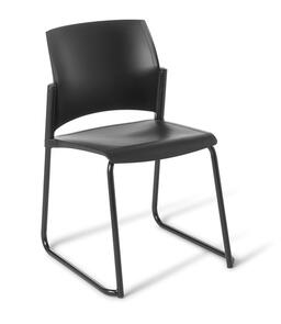 Eden Spring Sled Chair Black