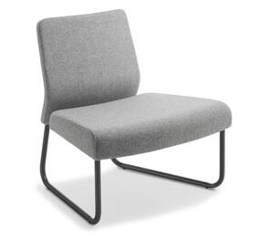 Eden Station External Curve Black Frame Chair