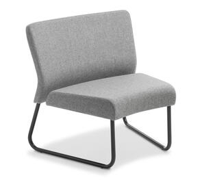 Eden Station Internal Curve Black Frame Chair