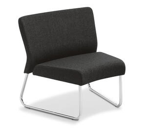Eden Station Internal Curve Chrome Frame Chair