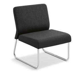 Eden Station Straight Chrome Frame Chair
