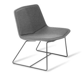 Eden Stratos Lounge Chair with Black Sled Base