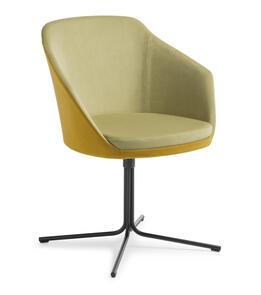 Eden Talia Swivel 4-point Black Base Chair