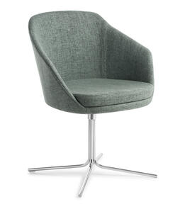 Eden Talia Swivel 4-point Chrome Base Chair