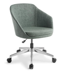 Eden Talia 5-star Swivel Chrome Base Chair