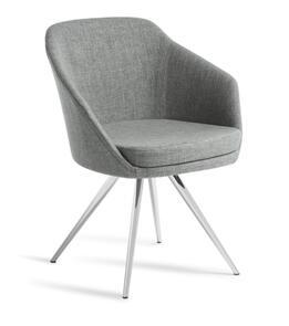 Eden Talia Chrome Stork Base Chair