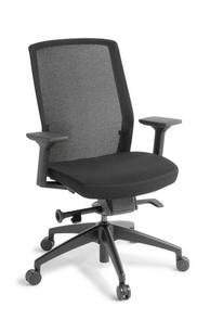 Eden Track Black Frame Chair with Arms