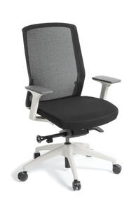 Eden Track White Frame Chair with arms
