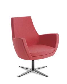 Eden Treviso 4-point Black Base Chair