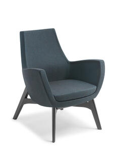 Eden Treviso Black Timber Base Chair