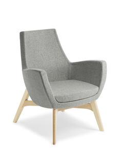 Eden Treviso Natural Ash Timber Base Chair