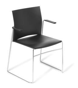 Eden Web Chrome Frame Chair with Arms