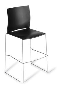 Eden Web Chrome Frame Bar Stool