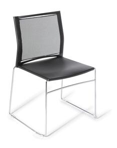 Eden Web Chrome Frame Mesh Chair
