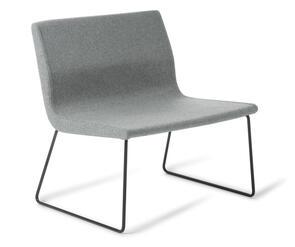 Eden York Sled Black Base Chair