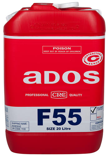 ADOS F55 Sprayable Contact Adhesive - Clear 20 litre
