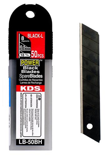 Tradegear Black Snap Off Blades 50 Pack - LB50BH 18 mm