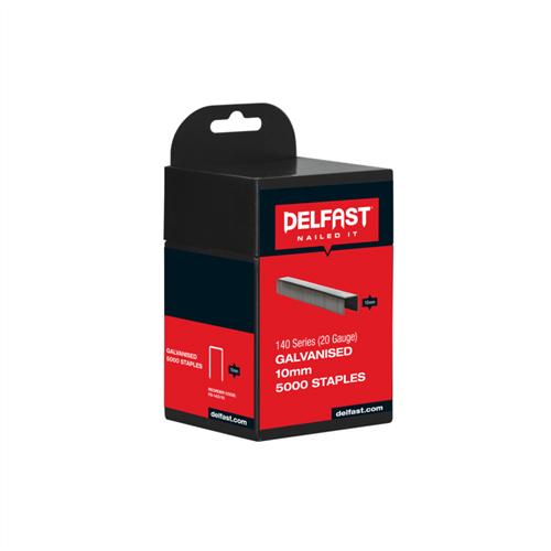 Delfast Galvanised Staples 140 Series 10 mm - 5000