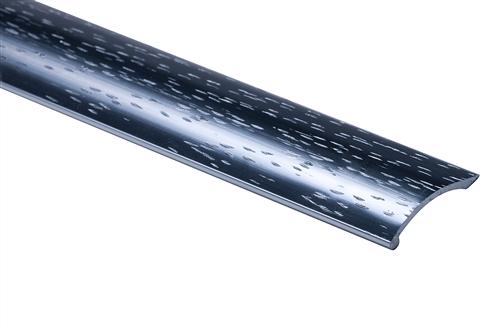 Strongbond Pewter Hammered Coverstrip 8651.LL Aluminium Floor Trim 2.44m