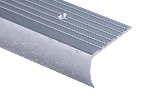 Strongbond  Commercial Hammered 2844 Stair Nosing Aluminium Floor Trim 2.44m