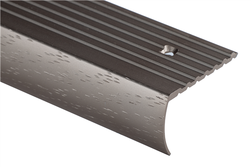 Strongbond Champagne Commercial Hammered 7844  Stair Nosing Aluminium Floor Trim 2.44m