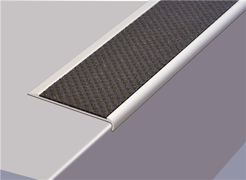 Tredsafe AA128 Stairnosing Uncovered Stairs 10mm drop (sold per metre)
