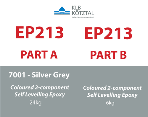 KLB EP 213 Silver Grey 7001 RAL 30 kg kit