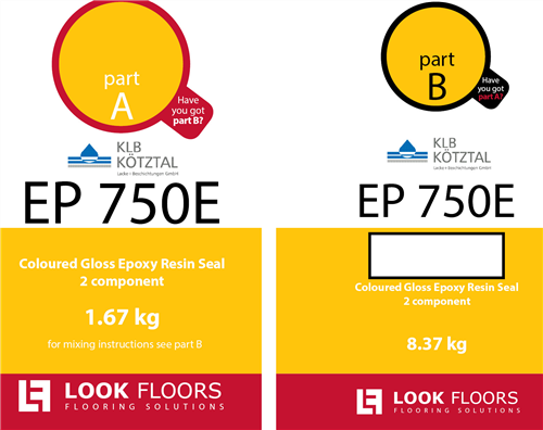 KLB EP 750 Silver Grey RAL 7001 10 kg kit