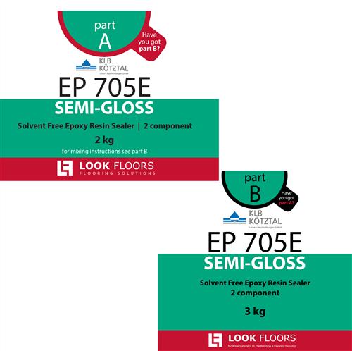 KLB EP 705E Clear Epoxy Semigloss 5 kg kit