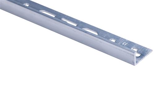 Roberts TASE10-M Mill Finish 10mm Square Edge Aluminium Tile Trim 2.5m