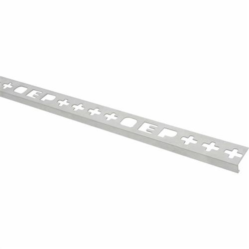 Roberts TASE 12-M Silver Bright Square Edge Aluminium Tile Trim 12 x 2500 mm