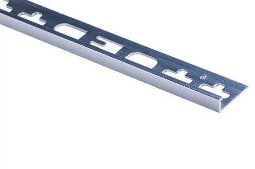 Roberts Bright Finish Aluminium Square Edge Tile Trim 2500 mm