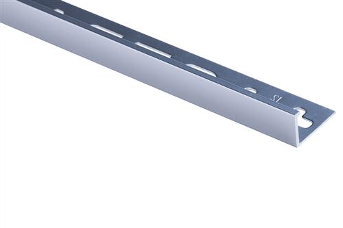 Roberts TASE12-B Silver Bright 12mm Square Edge Aluminium Tile Trim 2.5m